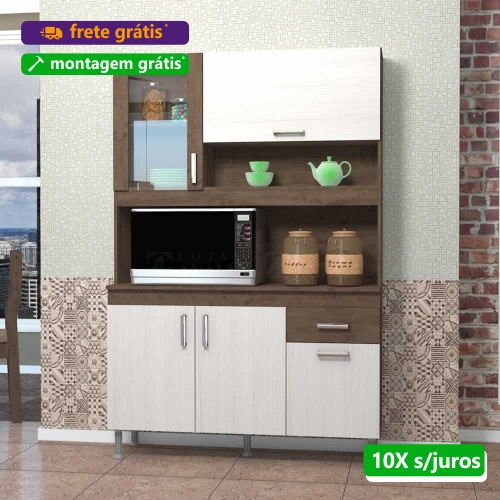 Kit Cozinha Compacta Lucia 1.20m - Indekes