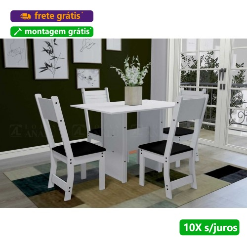 Mesa de Jantar com 4 Cadeiras Talita - Indekes